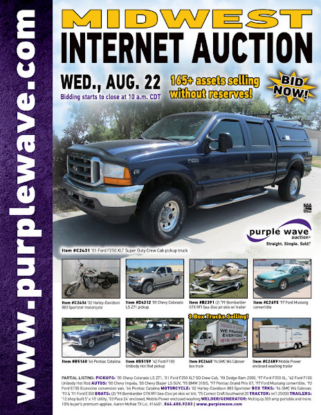 Photo: Midwest Auction August 22, 2012 http://purplewave.co/120822