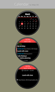 Calendar for Wear OS Screenshot