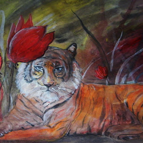 by Vesna Disich - Painting All Painting ( tiger )