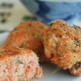 Wild Salmon & Kaffir Cakes with Ponzu Sauce