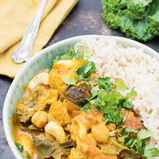 Easy Cauliflower & Kale Korma [vegan].