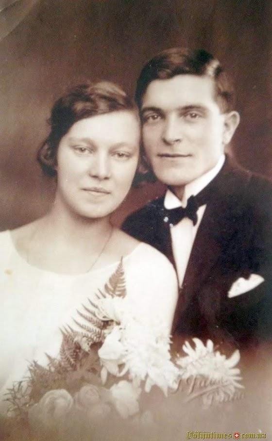 Шлюбне фото Павла Павловича та Параскеви Антонівни Голубовичів, Прага.