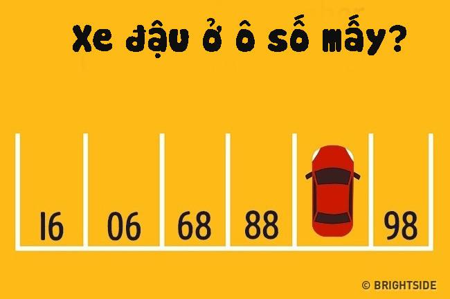 Chiếc ô tô đang đậu ở ô số mấy?