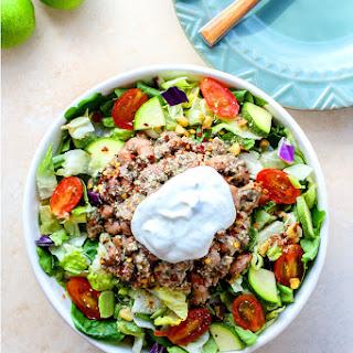 Crock Pot BBQ Taco Salad {Gluten Free}
