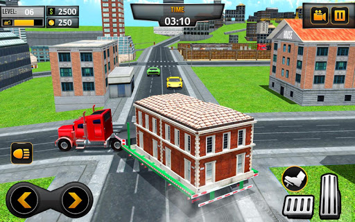 Mobile Home Transporter Truck: House Mover Games 1.0.4 screenshots 2