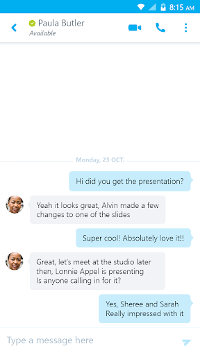 Skype for Business for Android 6.25.0.12 screenshots 2