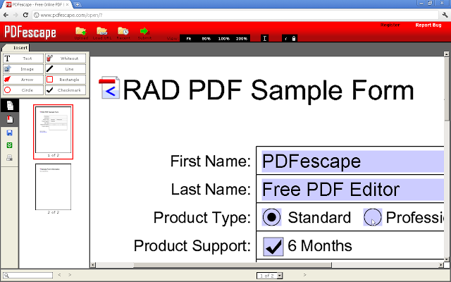 Pdfescape free pdf editor chrome web store edit form fill and view pdf files directly in google chrome free ccuart Choice Image