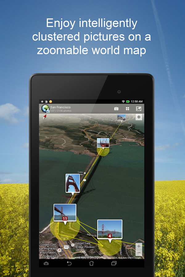 PhotoMap PRO Gallery - Photos, Videos and Trips- screenshot