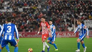 Juan Carlos en el partido contra el Deportivo.