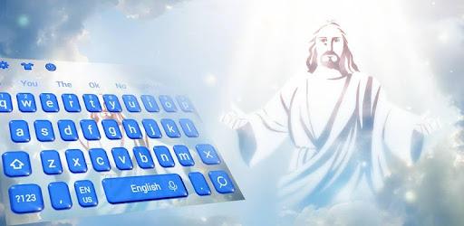 God praying keyboard,decorative phone style