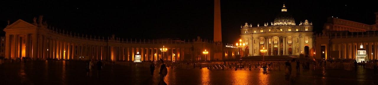 Panorama of St. Peter's Basilica at night