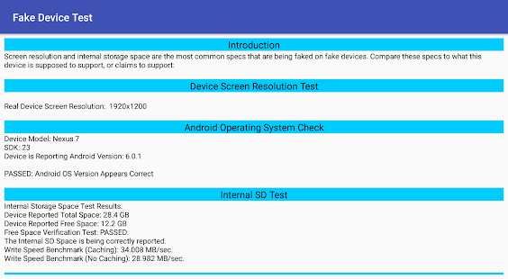 App Fake Device Test APK for Windows Phone