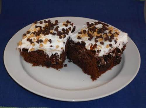 """Caramel Fudge Chocolate Cake """"Yummy! Made it tonight and it's flying out..."""