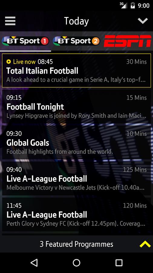 BT Sport - screenshot