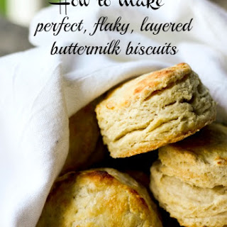 Perfect, Flaky, Layered Buttermilk Biscuits {tutorial}