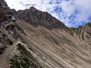 Photo: Route up to Reither Spitze.