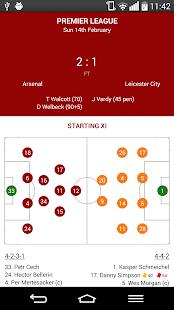 LiveScores Arsenal - náhled