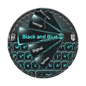 Black and Blue GO Keyboard icon
