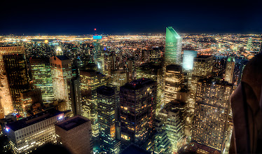 """Photo: I've had some folks ask for more photos from my trip to NYC. Here's one taken from the """"Top of the Rock"""""""