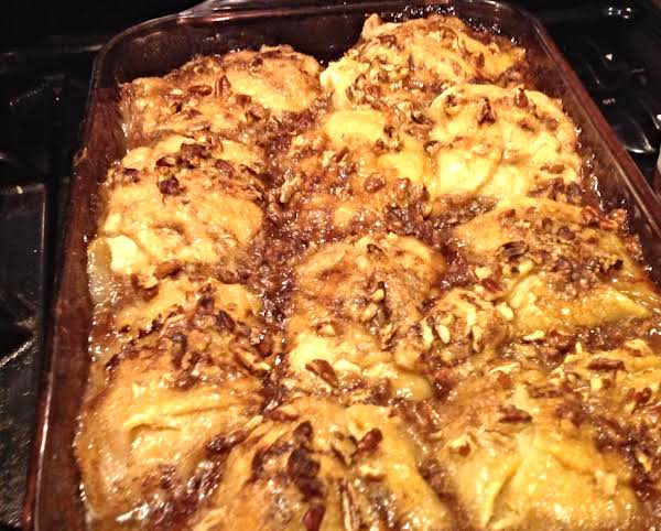 Ginger Ale Apple Dumplings With Toasted Pecans