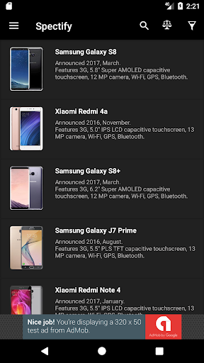 Spectify - Smartphone Specifications Finder 1.16.8 screenshots 1
