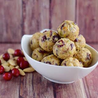 No-Bake Almond Cranberry Energy Balls.