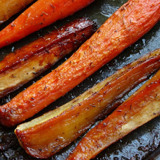 The Most Amazing Honey-Glazed Carrots and Parsnips.