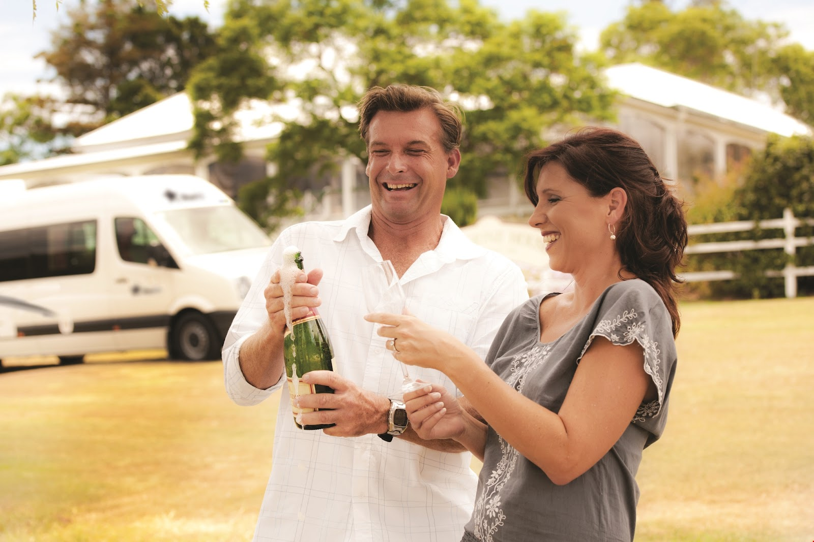 coupole popping champagne bought motorhome camper green tree apollo winnebago