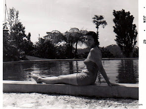 Photo: Marilyn by the pool at Finca La Paz