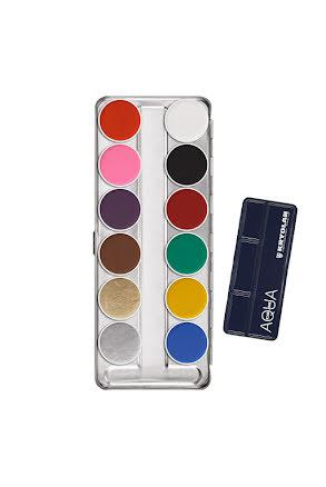 Aquacolor palett 12 färger