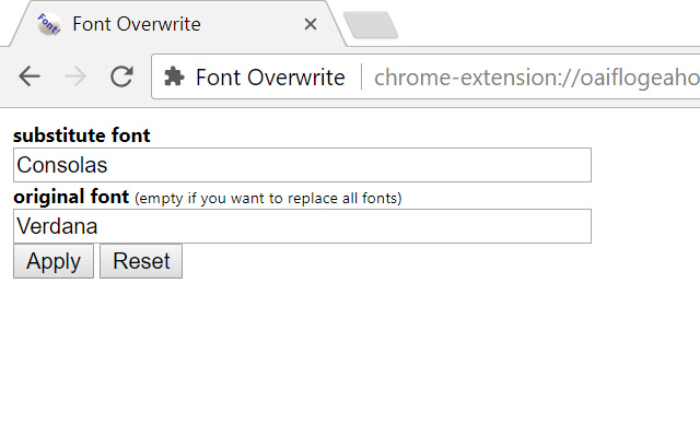 Font Overwrite