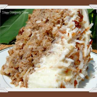 Hawaiian Wedding Cake with Whipped Cream-Cream Cheese Frosting.