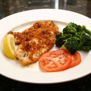 Baked Tilapia With Cajun Crumb Topping.