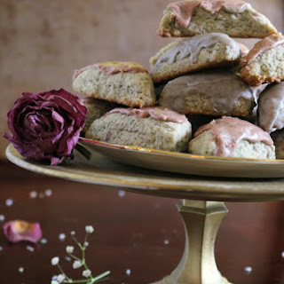 Mini Earl Grey Scones with Rose and Lavender Icings.