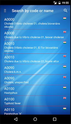 ICD code look-up translate