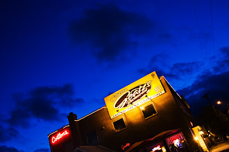 "Photo: Cotton Geatz's after Dark | ""Cotton's"", as it is known by Cumberland locals, is one of the oldest family-operated restaurants in Cumberland. Had to use the car as a tripod since I didn't have mine with me. Hence the cool angle. © 2011 Ryan Lynham"