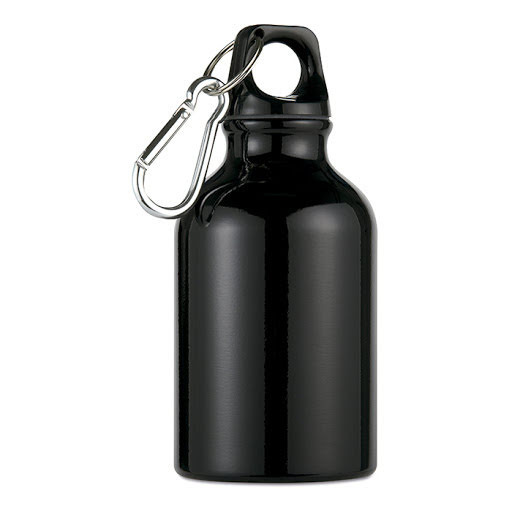 Sports Bottle in Aluminium with Carabiner (300ml)