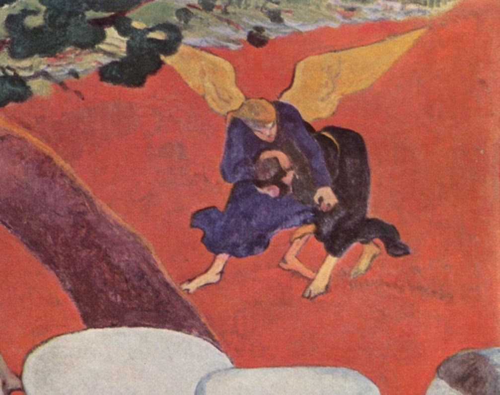 Analysis of Paul Gauguin's Vision After The Sermon  #kellybagdanov #kellybagdanov.com #arthistory #teachingarthistory #visionafterthesermon #paulgauguin #artappreciation #charlottemason #classicalconversation #homeschooling