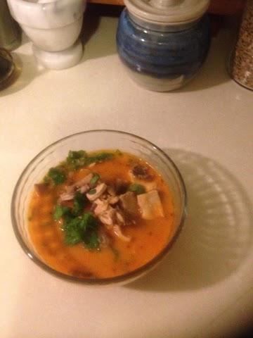 Thai Chicken Coconut Curry Soup Recipe