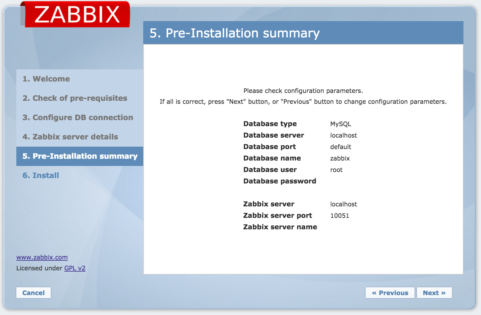 Zabbix Web Interface Installation 8