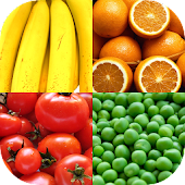 Fruit and Vegetables, Nuts & Berries: Picture-Quiz