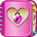 Pink Diary with Lock Password for Girls icon