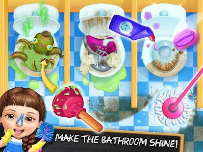Sweet Baby Girl Cleanup 6 - Cleaning Fun at School- screenshot thumbnail