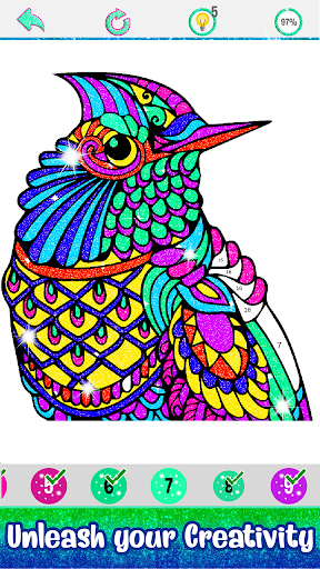 Glitter Color: Adult Coloring Book By Number Pages - screenshot