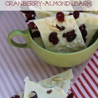 White Chocolate Cranberry Almond Bark