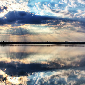 The Reflection by Nelson Moses - Landscapes Waterscapes ( clouds, hdr, dramatic, reflections, rays )