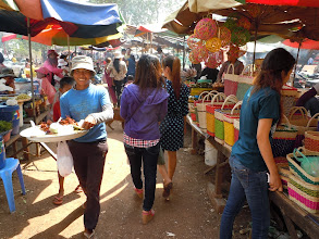 Photo: Food market on family outing near Phnom Penh