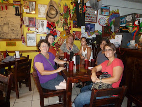 Photo: me and the gals out for Tex-Mex in Alajuela
