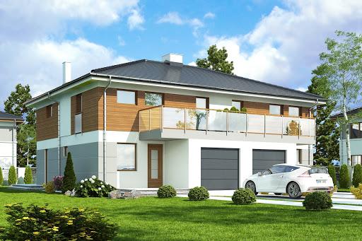 projekt Zyta z garażem 1-st. bliźniak A-BL