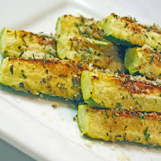 Parmesan Crusted Baked Zucchini.